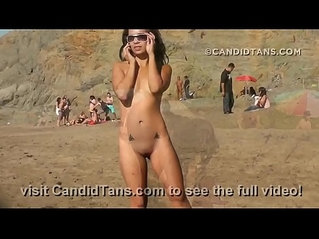 Amazing teen at Baker beach goes nude showing pussy in public!