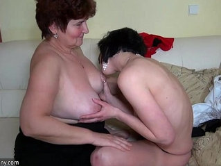 Older women fucking her ass with younger women and licking women pussy