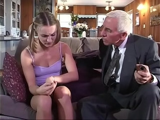 Young amateur girl gets spotted and fucked by old couple