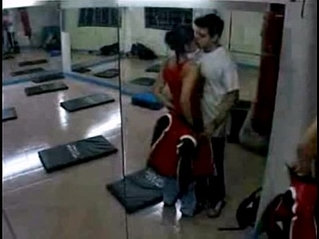 daring man has sex with trainer in the gym