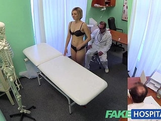FakeHospital New doctor gets horny slut MILF naked and wet with desire