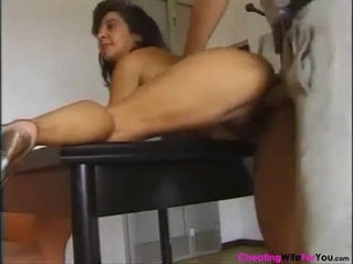 Italian hairy mature gets her tight pussy Filled