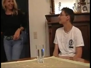 Not son in law gets hard anal strapon fuck lesson