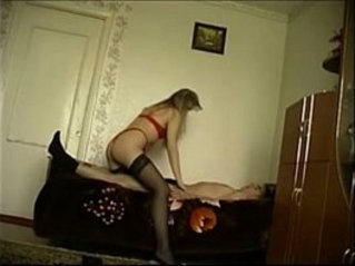 Russian milf creampied in homemade