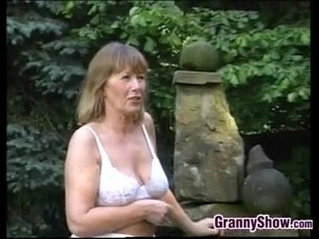 Grandma Has Sex Outdoors With Younger Guy