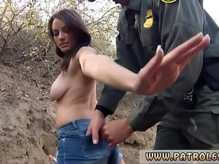 Fake cop cum inside pussy mexican border patrol agent has his own