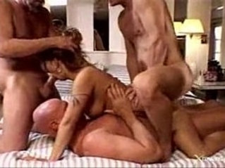 Husband watching his horny mature wife exploited by hard cocks