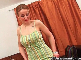 Big titted mom needs an orgasm