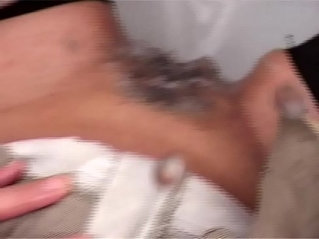 Stepson masturbating in the bathroom, her mother finds out and helps him cum