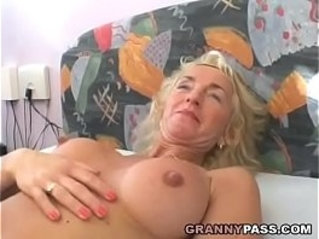 Busty Blonde Gets Her Hairy Pussy and ass Fucked