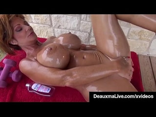 Naked Mommy Gets Fit On the Front Porch!