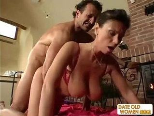 Exotic sexy looking mature gets the cock in her pussy and her mouth