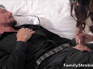 Daughter Blowjob While Step Dad Sleeps