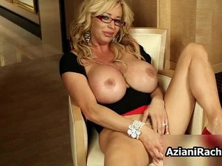 Blonde milf with big round huge natural tits playing