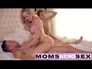 Sneaky Step Sis Has To Share a big Cock With Mom