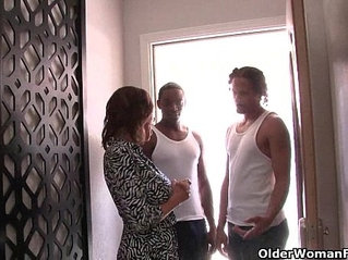 Cuckold hubby watches wife sucking and fucking black cocks