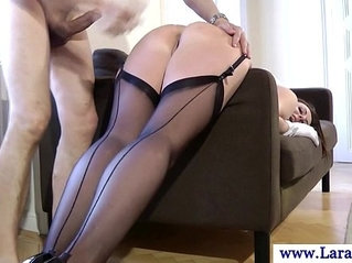 Mature european stockings ass fucked from behind